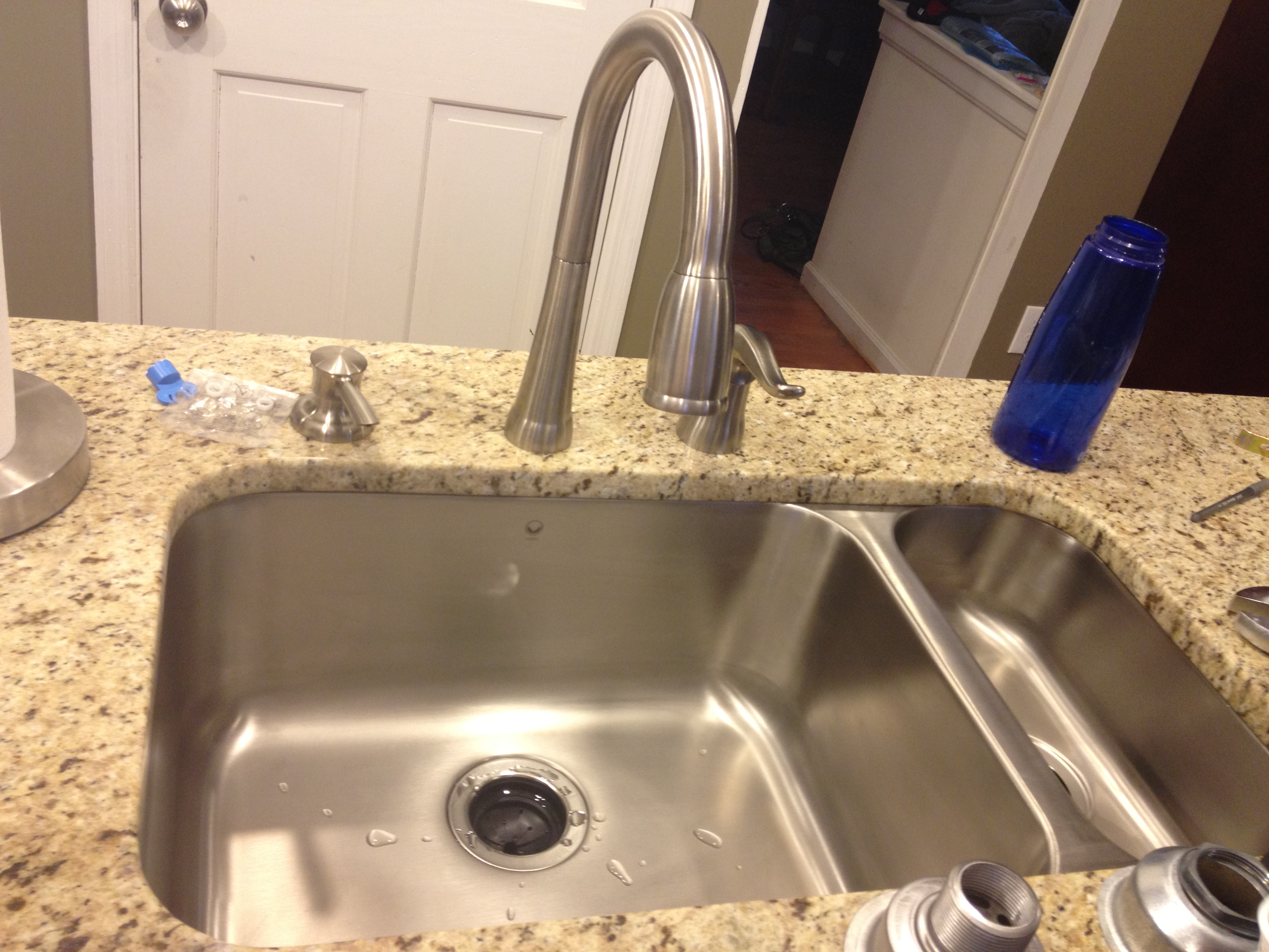 attractive Kitchen Sink Trash Disposal #7: Before ...