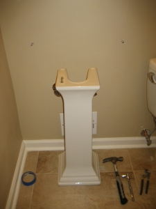 Pedestal in place!