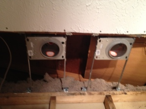 Recessed light housing in place!
