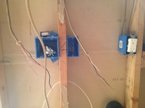 All the electrical boxes in place and ready to go
