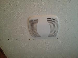 Exhaust fan complete!