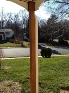 View of the new beam from the house