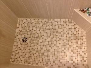 Shower floor complete!