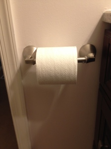 New toilet paper holder roll