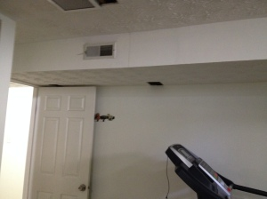 Drop in ceiling for vent in room #2