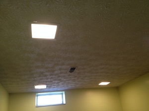 Lights and ceiling in room #1