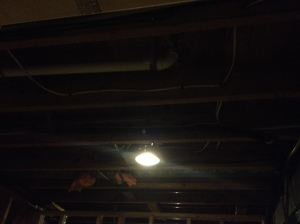 One of the new lights in the laundry room!