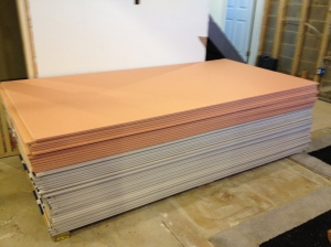 All of the sheets of drywall!  Seriously, 49 sheets is a LOT...