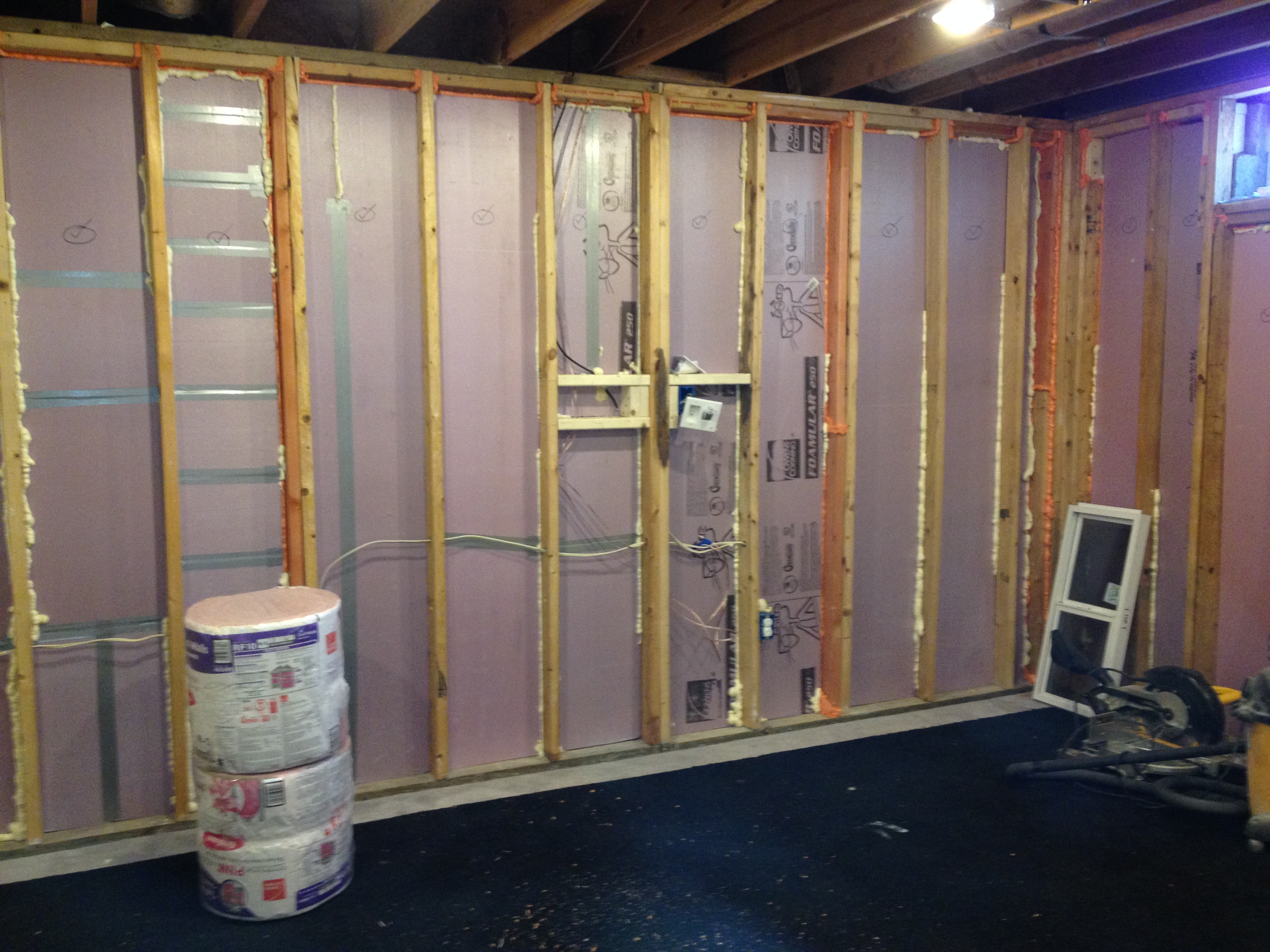 Basement insulation maibe we 39 re crazy - Adding rigid insulation to exterior walls ...