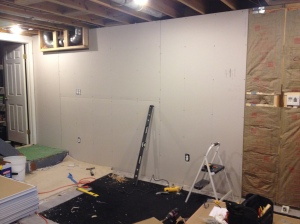 The beginnings of the drywall