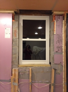 The end of Sunday night - window in place!