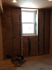 Window with all the insulation done as well!