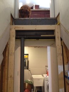 Support beams in place, Derby still uneasy about the missing stairs