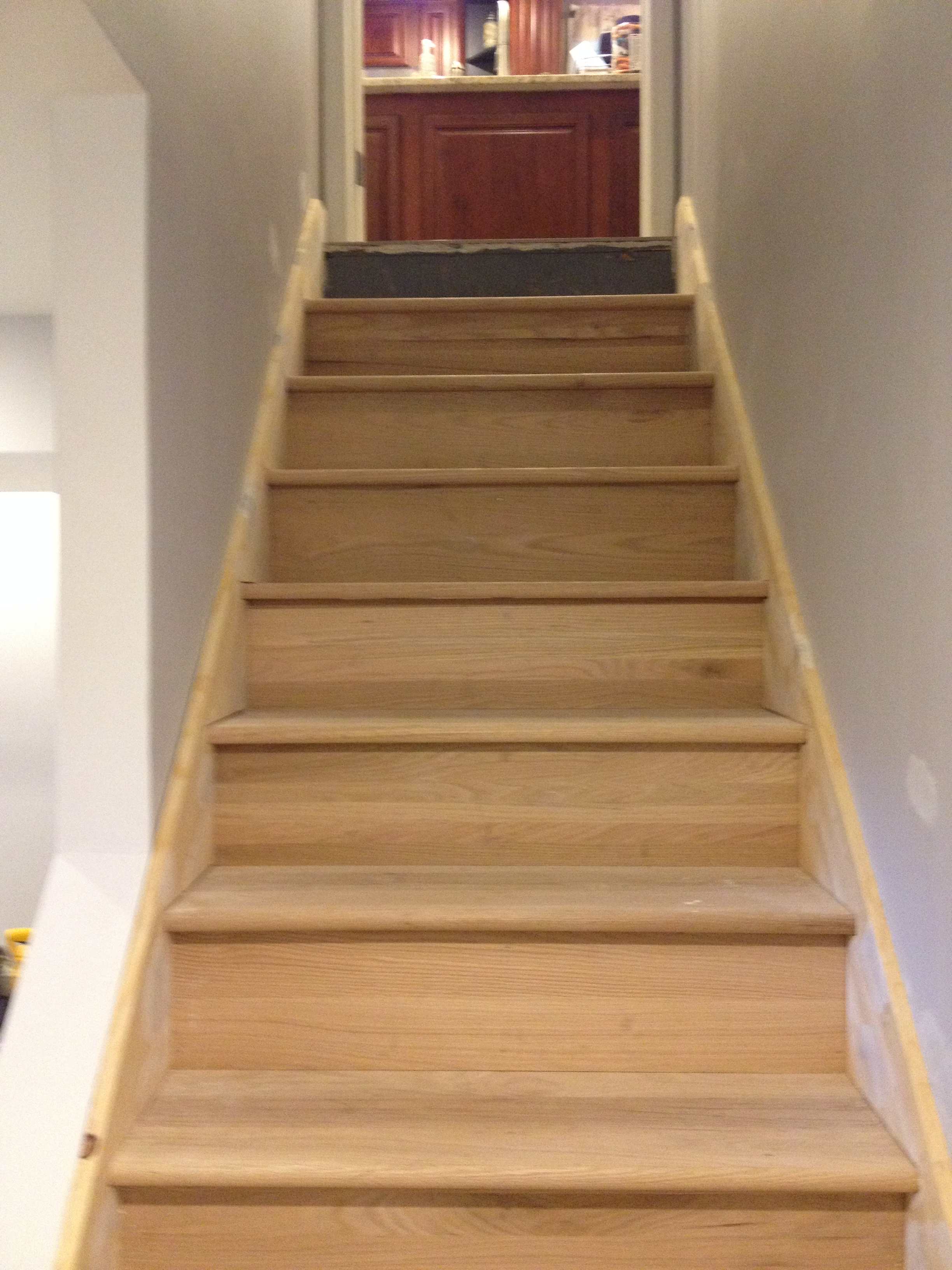 basement stairs looking down. One more full view basement DIY  Maibe We re Crazy