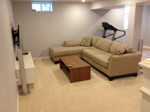 "This is the old ""first room"" - now the lounging area of the basement"