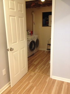 View into the laundry room
