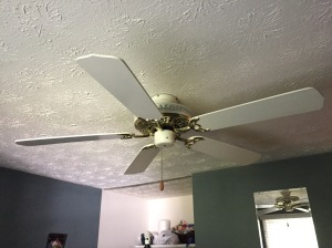 Old fan in the extra bedroom